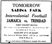 Tomorrow, Sabina Park