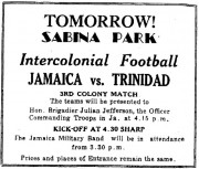 Tomorrow! Sabina Park
