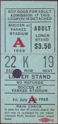 New York Generals vs Santos ticket stub