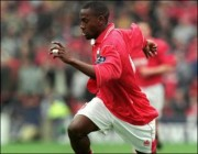 Reds striker Clint Marcelle powers forward