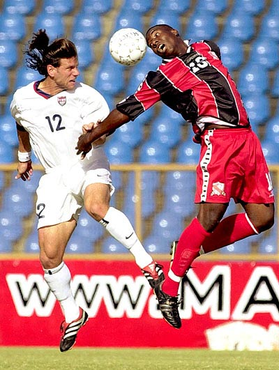 Jeff Agoos and Nigel Pierre