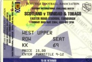 Scotland vs Trinidad & Tobago ticket