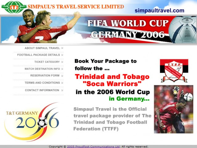 Simpaul's Travel website