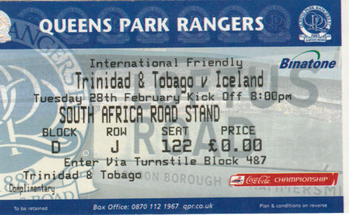 T&T vs Iceland ticket stub